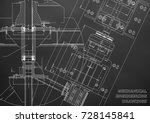 mechanical engineering drawings.... | Shutterstock .eps vector #728145841