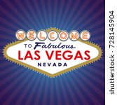 welcome to fabulous las vegas... | Shutterstock .eps vector #728145904