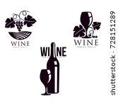 wine corkscrew  glass of wine... | Shutterstock .eps vector #728151289