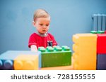 happy laughing boy 1 2 years... | Shutterstock . vector #728155555