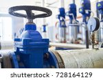 water pumping station. valve... | Shutterstock . vector #728164129