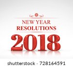 red color 2018 new year... | Shutterstock . vector #728164591