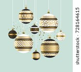 xmas and new year fancy... | Shutterstock .eps vector #728164615