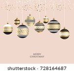xmas luxury gold abstract... | Shutterstock .eps vector #728164687