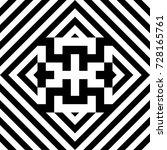 seamless tile with black white...   Shutterstock .eps vector #728165761