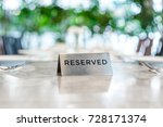 reserved metal plate on the... | Shutterstock . vector #728171374