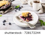 coconut crumble on white plate... | Shutterstock . vector #728172244