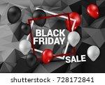 black friday banner. vector... | Shutterstock .eps vector #728172841