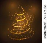 christmas tree light vector... | Shutterstock .eps vector #728175751