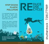 stop plastic pollution reduce ... | Shutterstock .eps vector #728177989