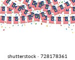 malaysian flags garland white... | Shutterstock .eps vector #728178361