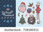 merry christmas typography... | Shutterstock .eps vector #728180311