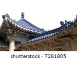 Chinese style roof structure - stock photo