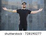 hipster handsome male model... | Shutterstock . vector #728190277