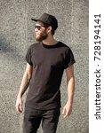 hipster handsome male model... | Shutterstock . vector #728194141