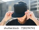 hipster handsome male model... | Shutterstock . vector #728194741