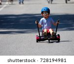 happy boy standing on... | Shutterstock . vector #728194981