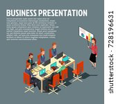 isometric business presentation ... | Shutterstock .eps vector #728196631