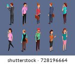 different office people... | Shutterstock .eps vector #728196664