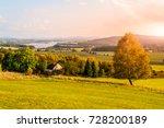 autumn landscape at lipno water ... | Shutterstock . vector #728200189