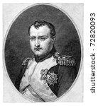 Napoleon Bonaparte aka Napoleon I (1769-1821). Vintage engraving from Harper