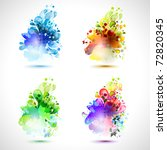 set of four season icons | Shutterstock .eps vector #72820345