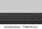 rows of cinema or theater seats.... | Shutterstock .eps vector #728205121