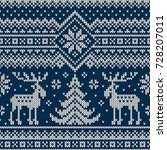 winter holiday seamless knitted ...   Shutterstock .eps vector #728207011