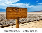 badwater basin sign with... | Shutterstock . vector #728212141