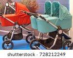 sale of prams in the store   Shutterstock . vector #728212249