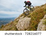 extreme sports. mountain bike.... | Shutterstock . vector #728216077