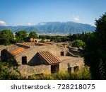 pompei ruins without tourists... | Shutterstock . vector #728218075