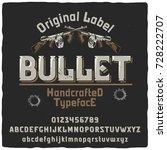 vintage label typeface named ... | Shutterstock .eps vector #728222707