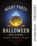 colorful halloween celebration... | Shutterstock .eps vector #728223391