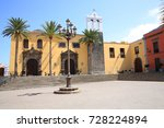 historic downtown in garachico... | Shutterstock . vector #728224894