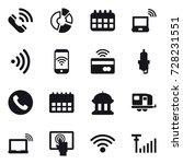 16 vector icon set   call ... | Shutterstock .eps vector #728231551