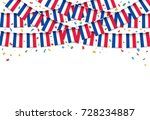 france flags garland white... | Shutterstock .eps vector #728234887