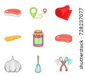 beef tenderloin icons set.... | Shutterstock .eps vector #728237077
