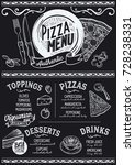 pizza food menu for restaurant... | Shutterstock .eps vector #728238331