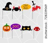 halloween elements for... | Shutterstock .eps vector #728239069