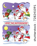 spot the difference.... | Shutterstock .eps vector #728241091
