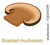 mushroom icon. isometric...
