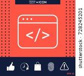 code editor icon | Shutterstock .eps vector #728245201