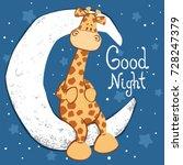 cute giraffe sitting on the... | Shutterstock .eps vector #728247379