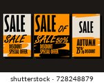 autumn sale background template....   Shutterstock .eps vector #728248879