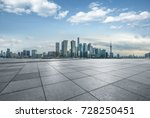 city square and modern... | Shutterstock . vector #728250451