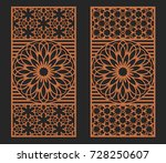 laser cutting set. wall or... | Shutterstock .eps vector #728250607