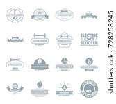 balancing scooter logo icons... | Shutterstock .eps vector #728258245