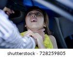 theft squeeze woman's neck...   Shutterstock . vector #728259805