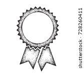 rosette icon  pointillism... | Shutterstock .eps vector #728260411